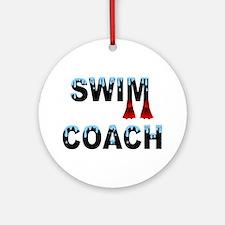 Swim Coach Ornament (Round)