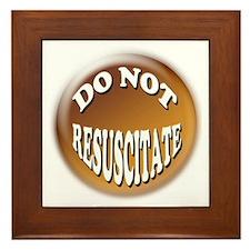 Do Not Resuscitate Framed Tile