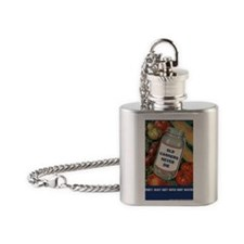 Old Canners Never Die Flask Necklace
