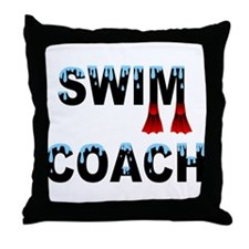 Swim Coach Throw Pillow