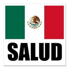 """Salud Mexican Drinking G Square Car Magnet 3"""" x 3"""""""