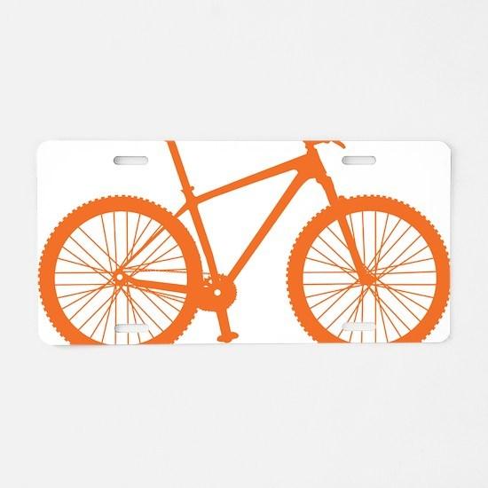 BOMB_orange Aluminum License Plate