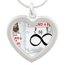 Pi_30 End Not Near (20x16 Co Silver Heart Necklace