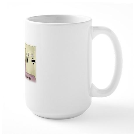 Pi_68 Math Chivalry (20x16 Color) Large Mug