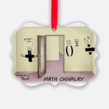 Pi_68 Math Chivalry (7.5x5.5 Colo Ornament