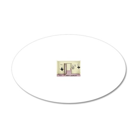 Pi_68 Math Chivalry (7.5x5.5 20x12 Oval Wall Decal