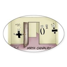 Pi_68 Math Chivalry (7.5x5.5 Color) Stickers