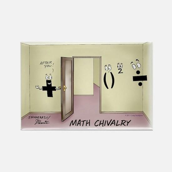 Pi_68 Math Chivalry (7.5x5.5 Colo Rectangle Magnet
