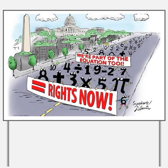Pi_74 Equal Rights (20x16 Color) Yard Sign