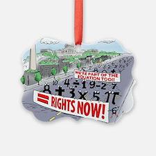 Pi_74 Equal Rights (10x10 Color) Ornament
