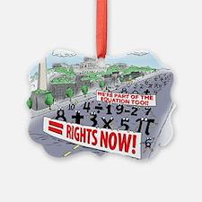 Pi_74 Equal Rights (20x16 Color) Ornament