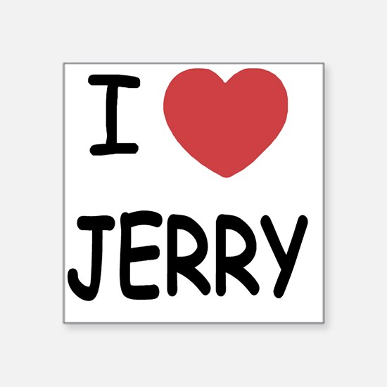"JERRY Square Sticker 3"" x 3"""