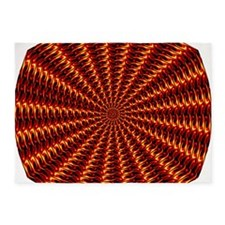 Flame Tunnel 5'x7'Area Rug