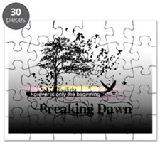 small poster black and white breaking dawn  Puzzle