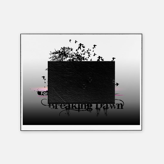 small poster black and white breakin Picture Frame