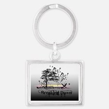 small poster black and white br Landscape Keychain