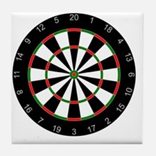 dart board Tile Coaster