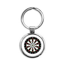 dart board Round Keychain