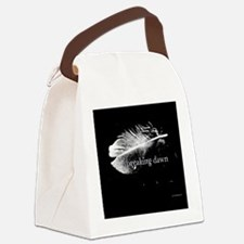 breaking dawn feather pillow blac Canvas Lunch Bag