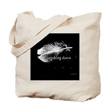 breaking dawn feather pillow black and wh Tote Bag