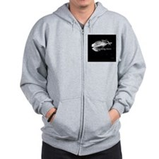 breaking dawn feather pillow black and  Zip Hoodie