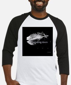 breaking dawn feather pillow black Baseball Jersey