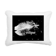 eclipse feather pillow c Rectangular Canvas Pillow