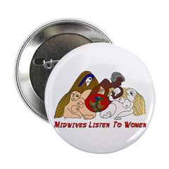 """Midwives Listen to Women 2.25"""" Button (100 pack)"""