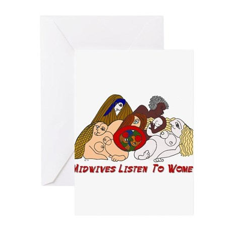 Midwives Listen to Women Greeting Cards (Package o