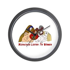 Midwives Listen to Women Wall Clock