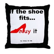 SHOES Buy- red Throw Pillow