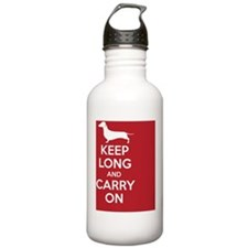 keep_calm_square Water Bottle