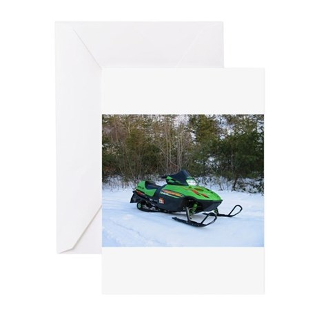 Snowmobile Greeting Cards (Pk of 10)