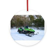 Snowmobile Ornament (Round)