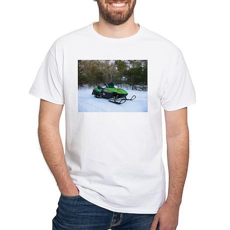 White Snowmobile T-Shirt