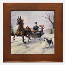Dashing Through the Snow Framed Tile