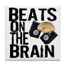 Beats on the Brain Tile Coaster