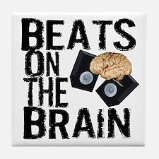 Beats on the Brain Tile Coaster