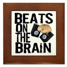 Beats on the Brain Framed Tile
