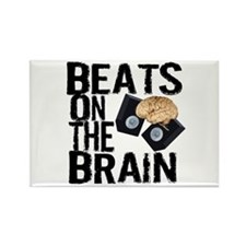 Beats on the Brain Rectangle Magnet