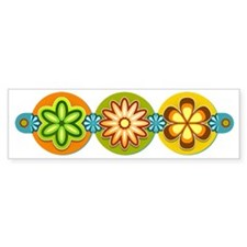 Retro Flowers Bumper Sticker