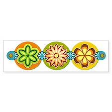 Retro Flowers Car Sticker