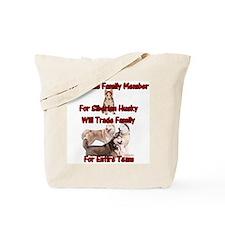 Siberian Husky Will Trade Tote Bag