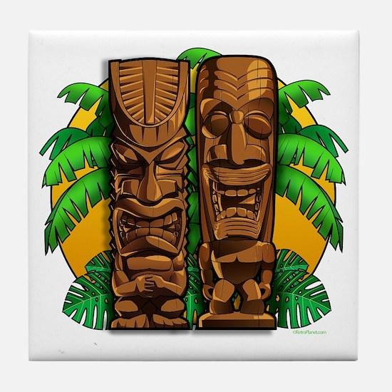 Tiki Gods Tile Coaster
