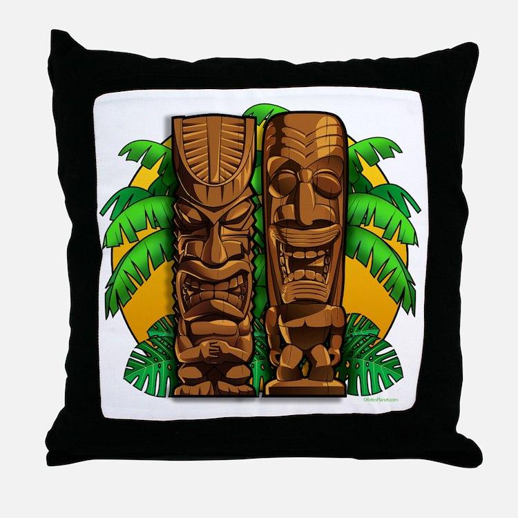 Tiki Gods Throw Pillow