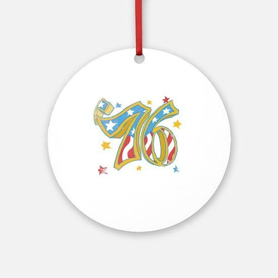76 USA Round Ornament