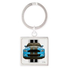 2013stangblue Square Keychain