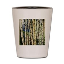 birches-flipflop Shot Glass
