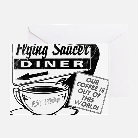 Flying Saucer Diner Greeting Card