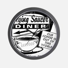 Flying Saucer Diner Wall Clock